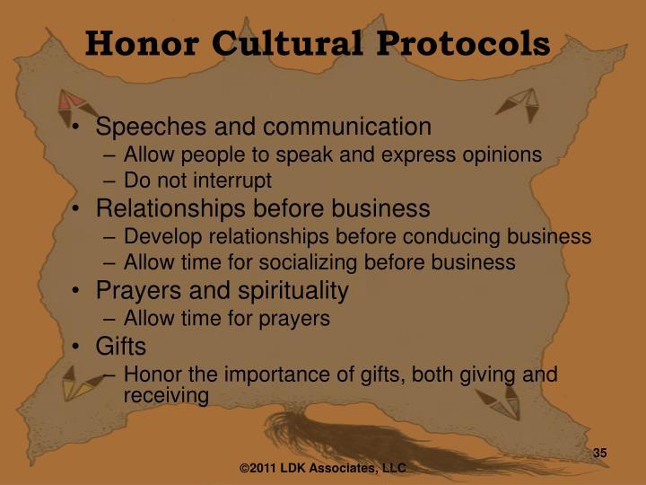 Honor Cultural Protocols