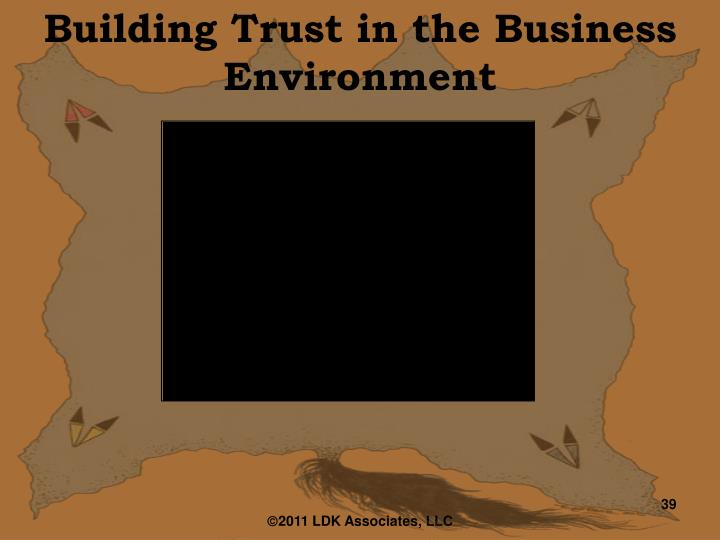 Building Trust in the Business Environment