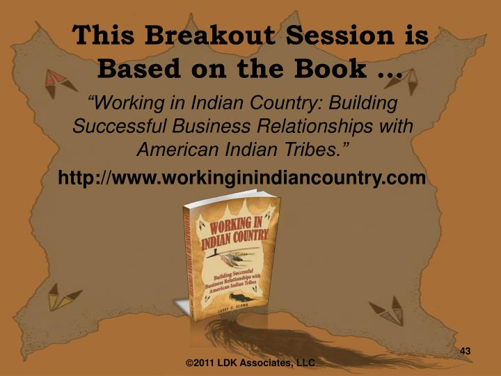 This Breakout Session is Based on the Book …