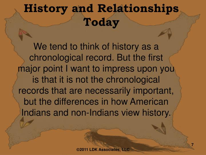 History and Relationships Today