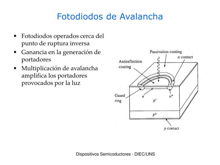Fotodiodos de Avalancha