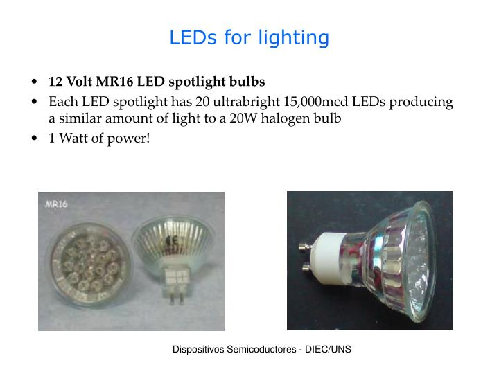 LEDs for lighting