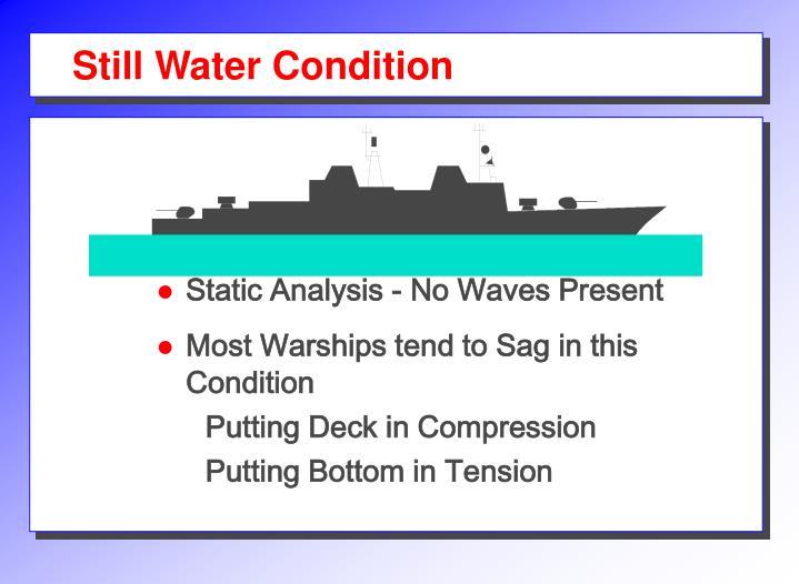 Still Water Condition