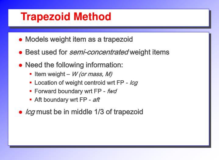 Trapezoid Method