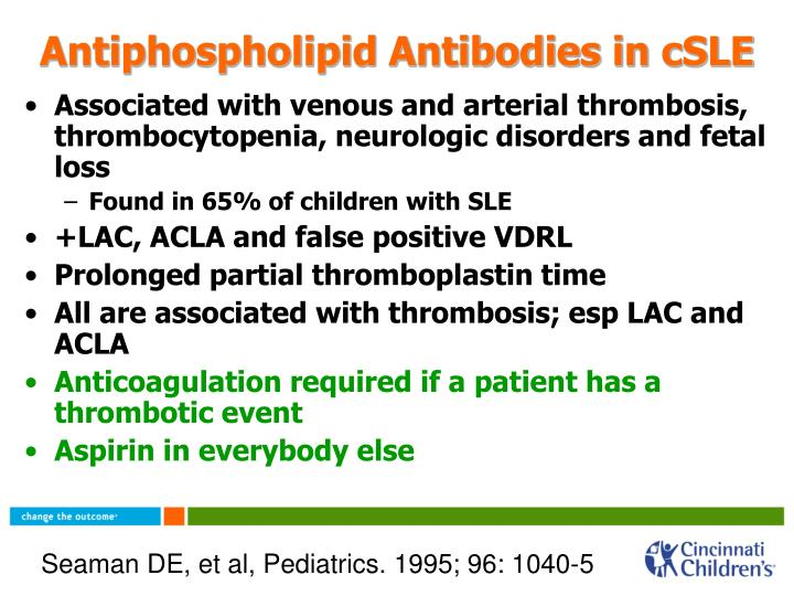 Antiphospholipid Antibodies in cSLE