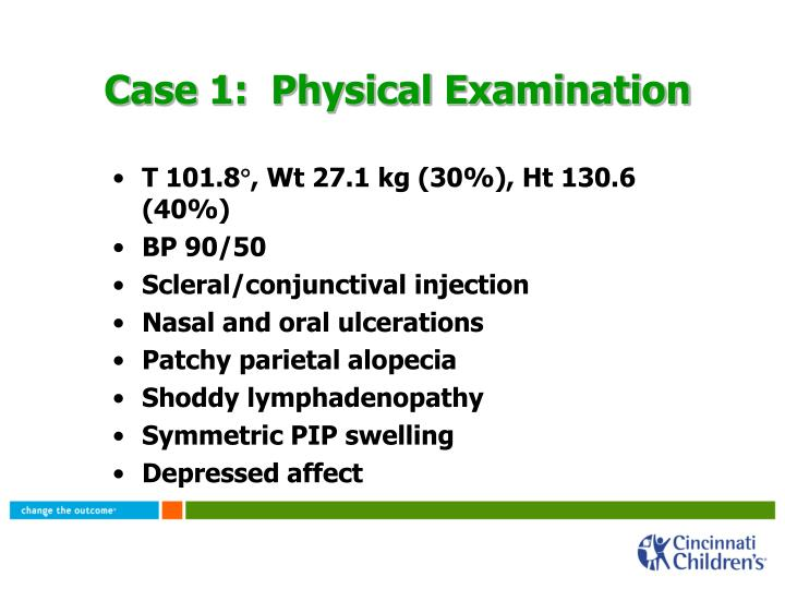 Case 1:  Physical Examination