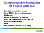 comprehensive evaluation of a child with sle
