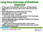 long term outcomes of childhood onset sle