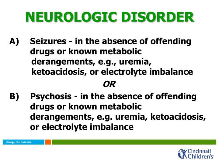 NEUROLOGIC DISORDER