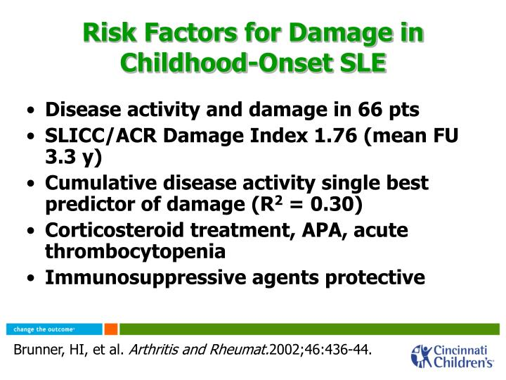 Risk Factors for Damage in Childhood-Onset SLE