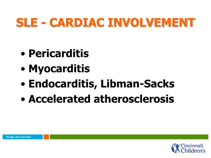 SLE - CARDIAC INVOLVEMENT