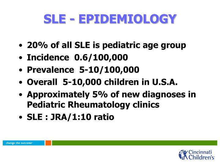 SLE - EPIDEMIOLOGY