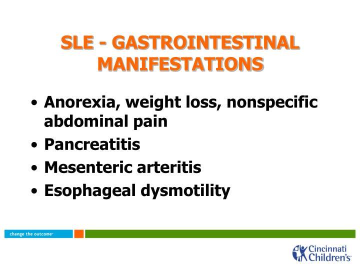 SLE - GASTROINTESTINAL MANIFESTATIONS