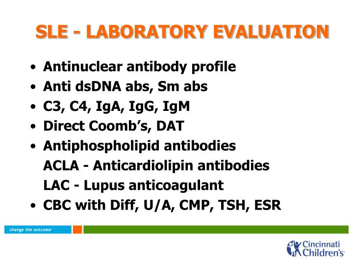 SLE - LABORATORY EVALUATION