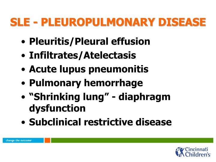 SLE - PLEUROPULMONARY DISEASE