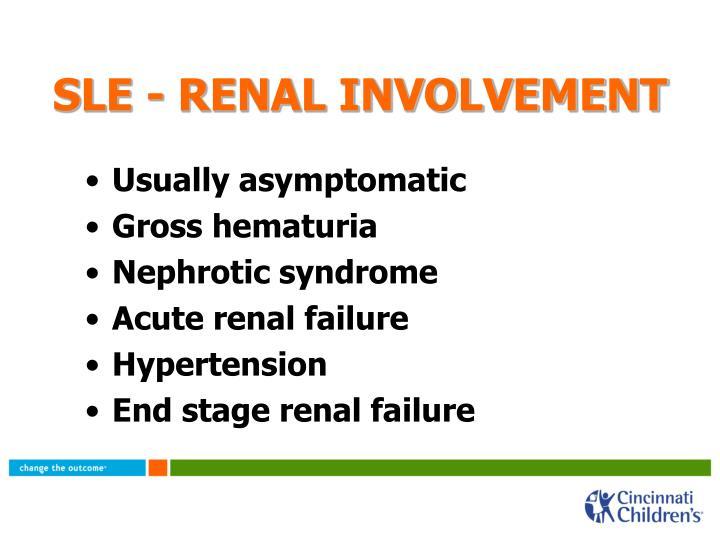 SLE - RENAL INVOLVEMENT
