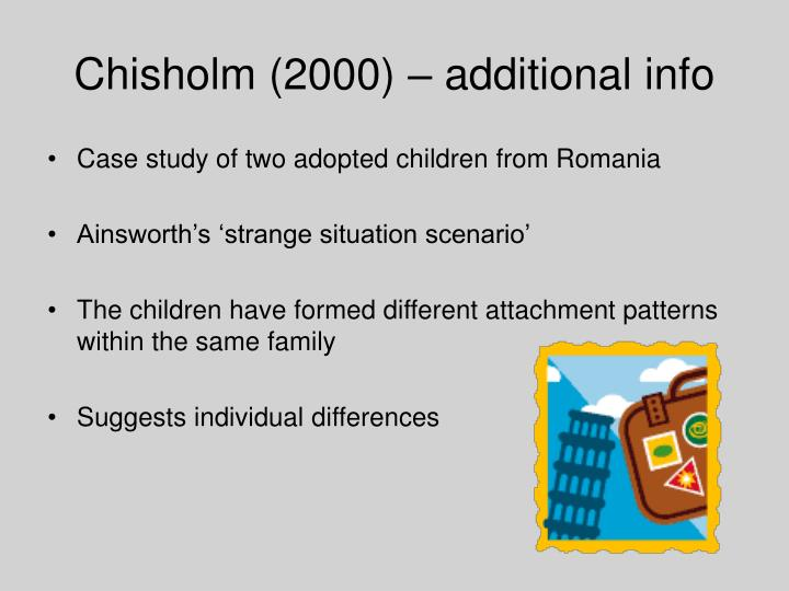 Chisholm (2000) – additional info
