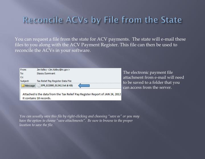 Reconcile acvs by file from the state