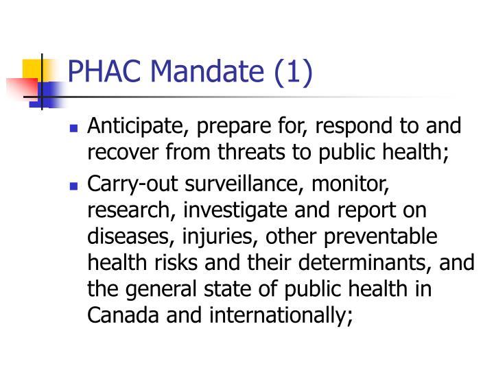 PHAC Mandate (1)