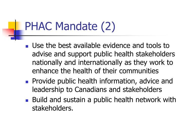 PHAC Mandate (2)