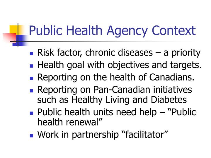 Public Health Agency Context