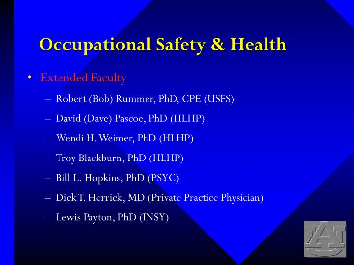 Occupational safety health1