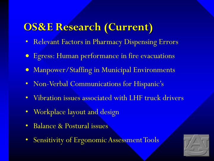 OS&E Research (Current)