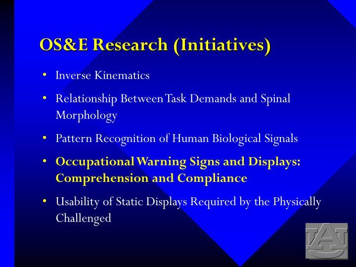 OS&E Research (Initiatives)