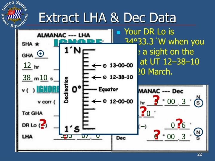 Extract LHA & Dec Data
