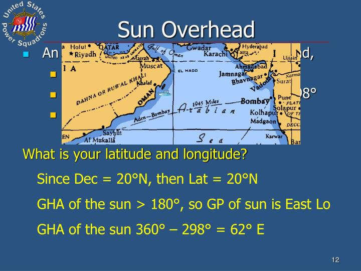 Sun Overhead