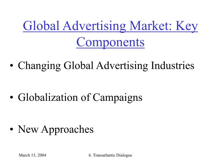 Global advertising market key components