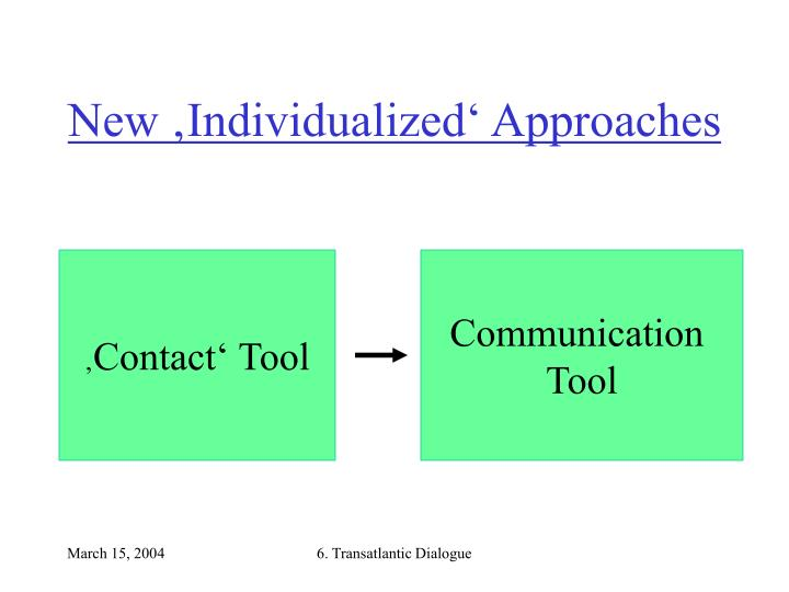New 'Individualized' Approaches