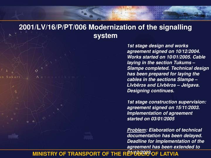2001 lv 16 p pt 006 modernization of the signalling system