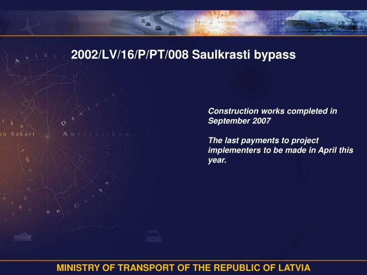 2002/LV/16/P/PT/008 Saulkrasti bypass