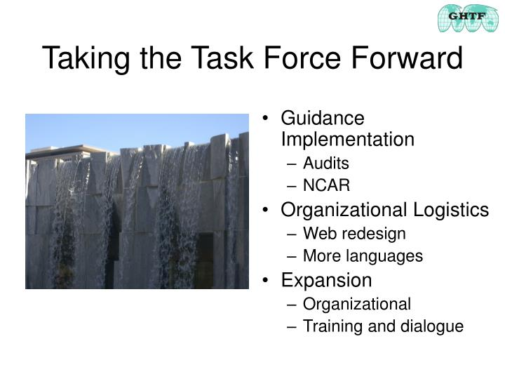 Taking the Task Force Forward