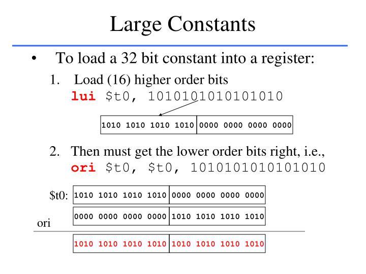Large Constants