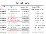 spim code