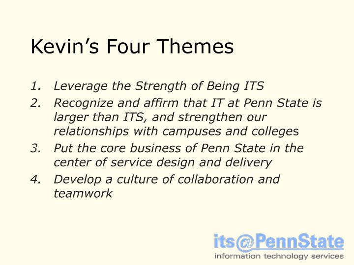 Kevin s four themes