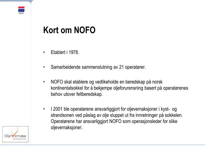 Kort om NOFO