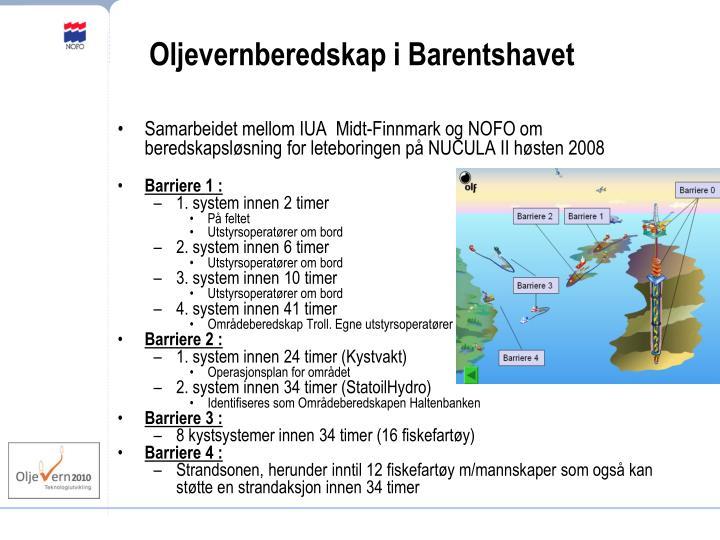 Oljevernberedskap i Barentshavet