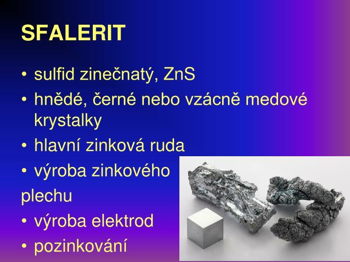 sulfid zinečnatý,