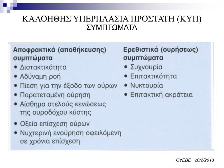 ΚΑΛΟΗΘΗΣ ΥΠΕΡΠΛΑΣΙΑ ΠΡΟΣΤΑΤΗ (ΚΥΠ)