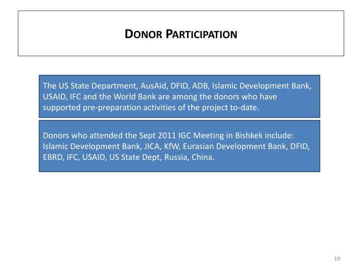 Donor Participation