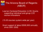 the arizona board of regents abor