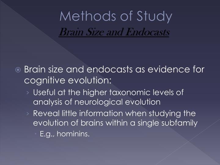 Methods of Study