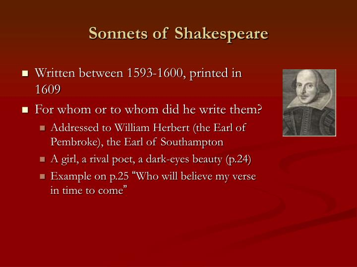 Sonnets of Shakespeare