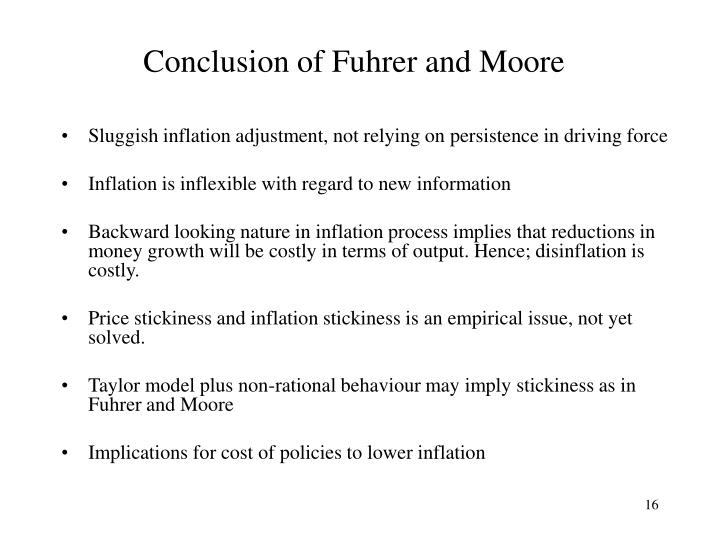 Conclusion of Fuhrer and Moore