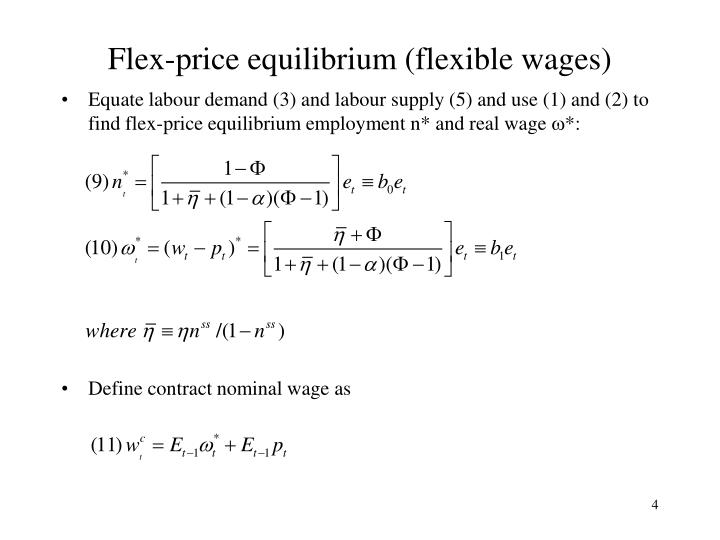 Flex-price equilibrium (flexible wages)