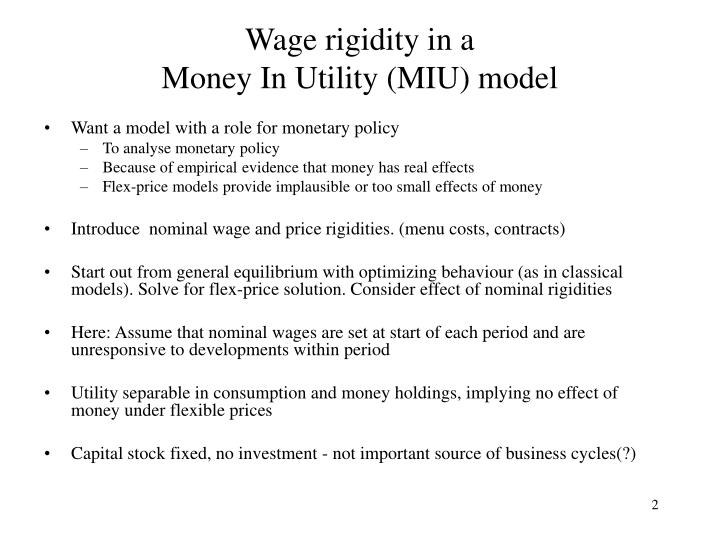 Wage rigidity in a