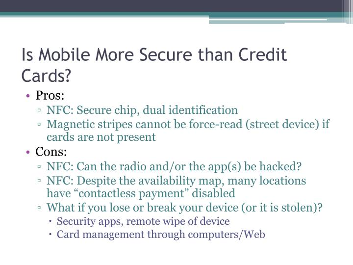 Is Mobile More Secure than Credit Cards?